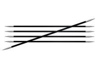 41124-Спицы чулочные карбоновые - 20 см, 2 мм - Knit Pro - Петелька...