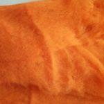 Carded wool- orange