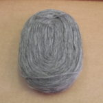 Solid Thin Pre-yarn / Kauni /- dark grey