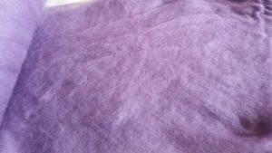 Carded wool - light violet