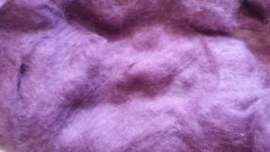 Carded wool - dark violet