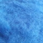 Carded wool - blue