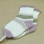 Plants dyed wool socks