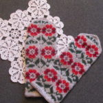 Ethnic patterned mittens