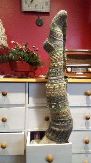 Handknitted stockings