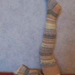 Kootud triibulised sukad