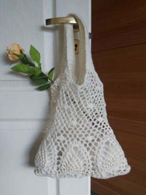 Crocheted net bag