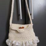 Crocheted small handbag