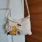 Crocheted small handbag