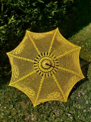Crocheted parasol