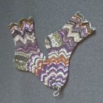Hand knitted lace socks
