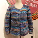Colorful knitted jacket