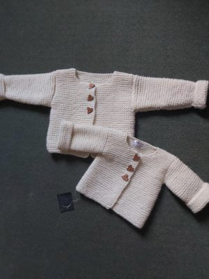 Hand knitted kid`s jacket