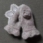 Handknitted mittens