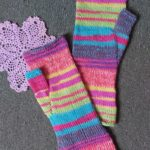 Striped wrist warmers
